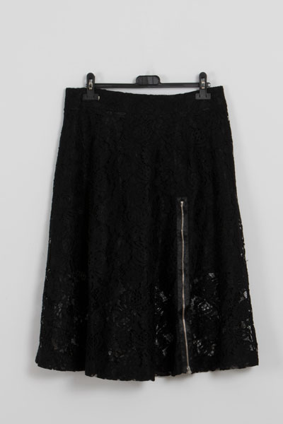 falda negra mujer- lluna- falda vaporosa
