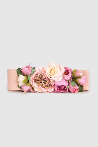 mirada detallada 3f19e da78e Cinturón elástico con flores de colores