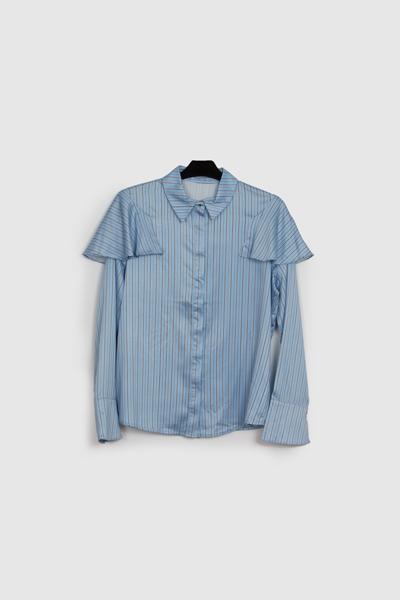 blusa primavera-blusa con volante- camisas primaveral- lluna
