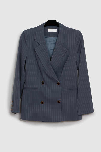 chaqueta americana a rayas classic