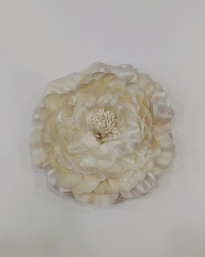Tocado pelo blanco- tocado flor comunion